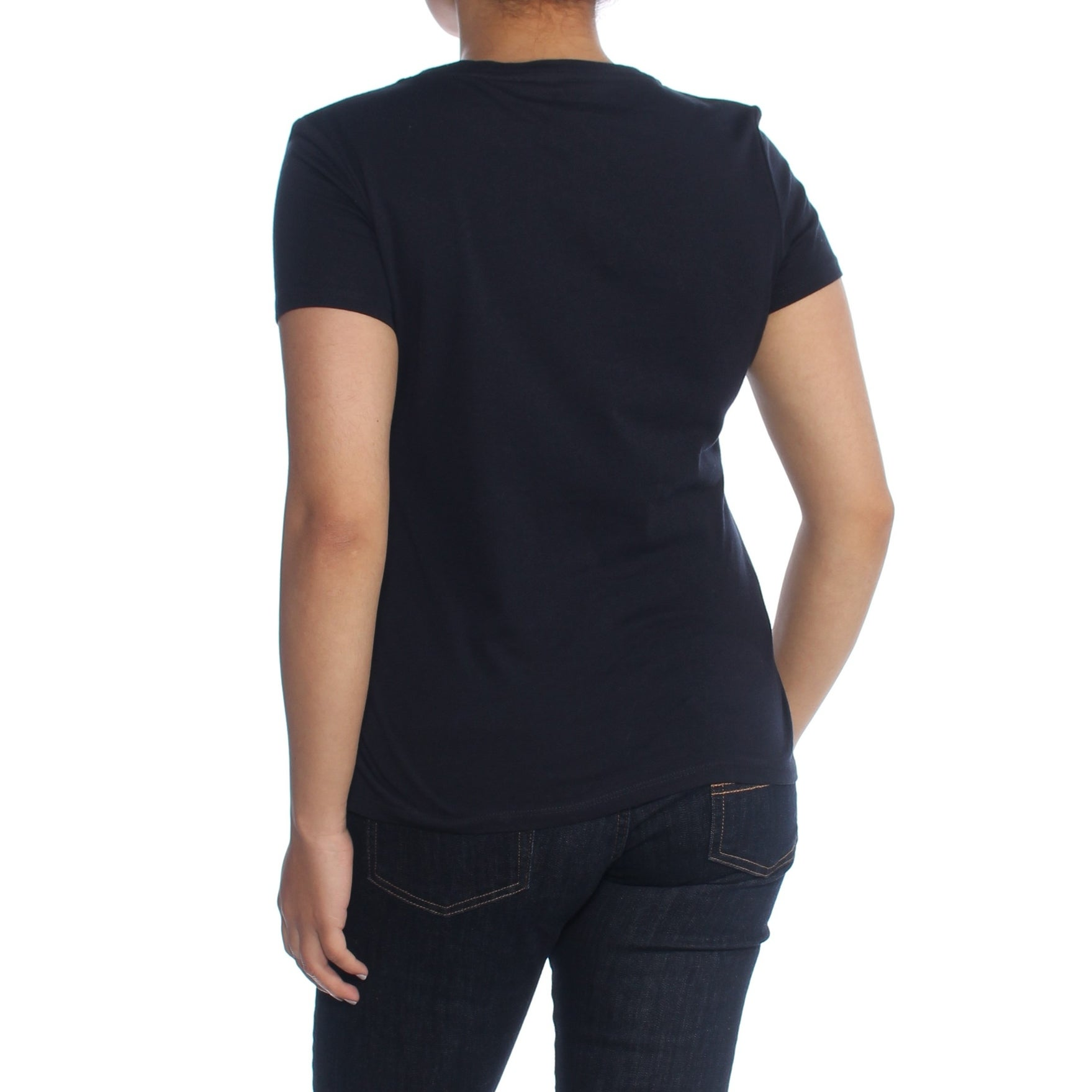 ba43ff32 Shop TOMMY HILFIGER Womens Navy Sequined Short Sleeve Crew Neck T-Shirt Top  Size: S - Free Shipping On Orders Over $45 - Overstock - 28108275
