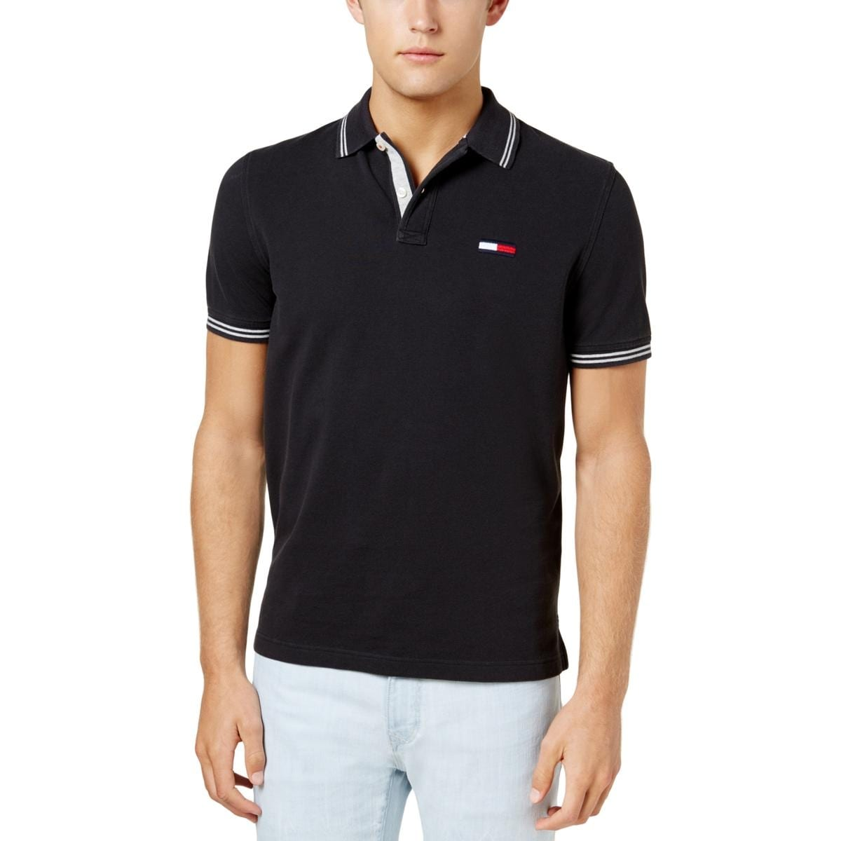 de548f9a Shop Tommy Hilfiger Mens Polo Shirt Casual Button-Down Neck - Free Shipping  On Orders Over $45 - Overstock - 26389522