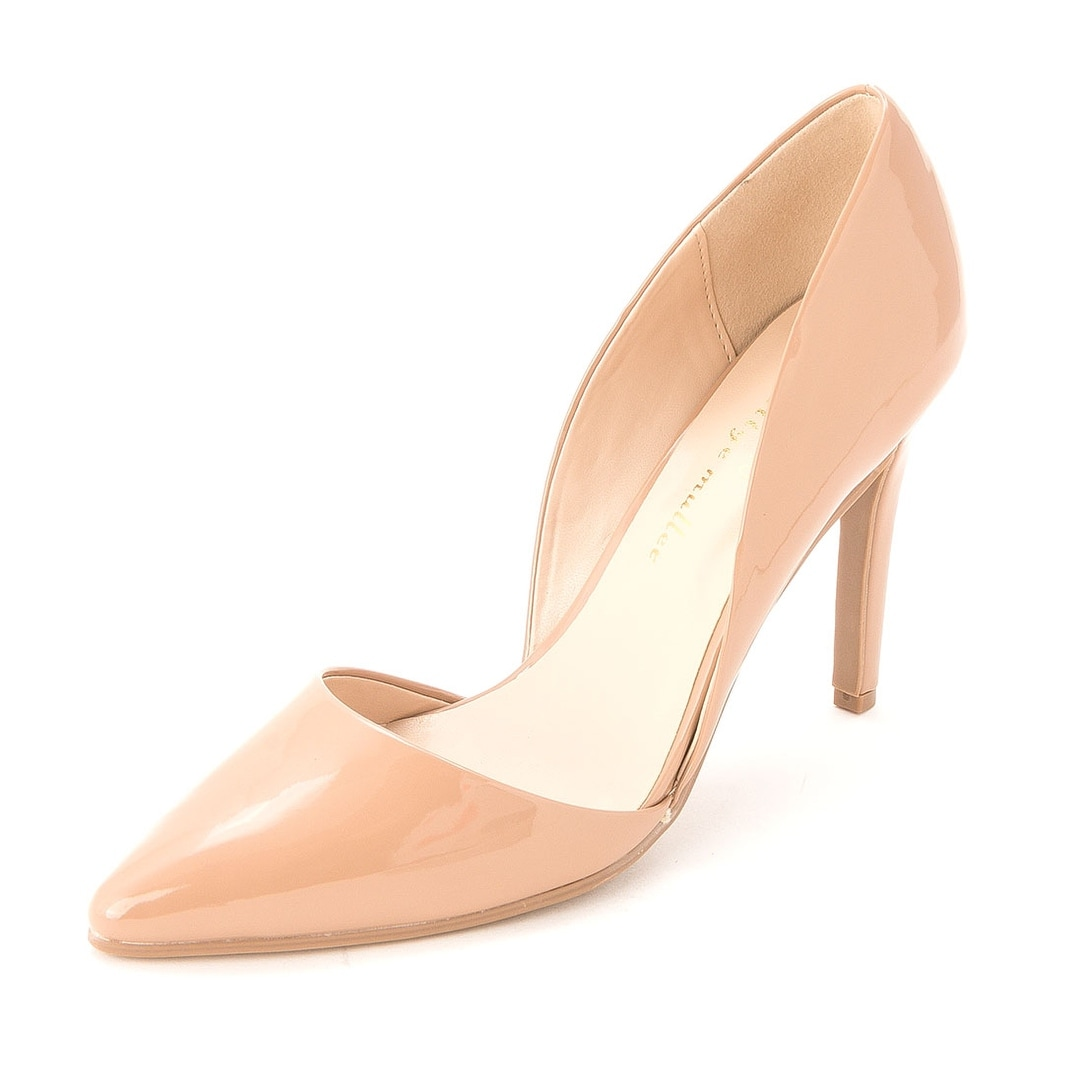 Ann Marino Womens APRIL Pointed Toe Dorsay Pumps Nude Size 10.0