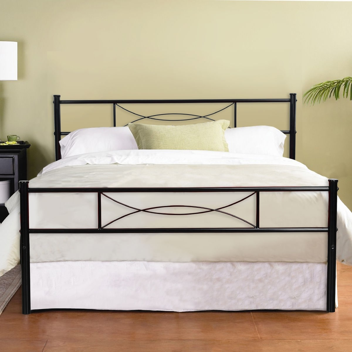 Shop 4 Color Metal Bed Frame Bedroom Furniture with headboard Full ...
