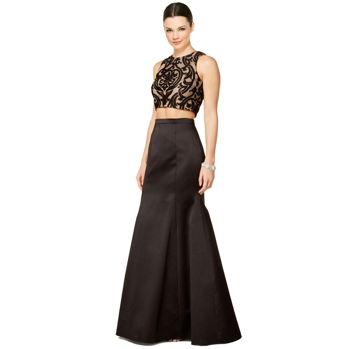 7305d772ddd115 Shop Xscape 2pc Lace Satin Evening Gown Dress - Free Shipping Today -  Overstock - 19986370