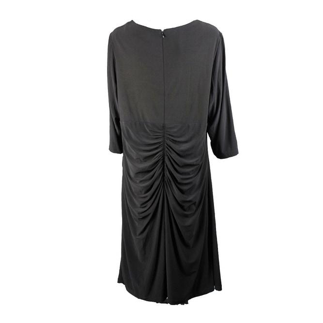7a4264b7199 Shop Inc International Concepts Plus Size Black Cutout Sheath Dress ...
