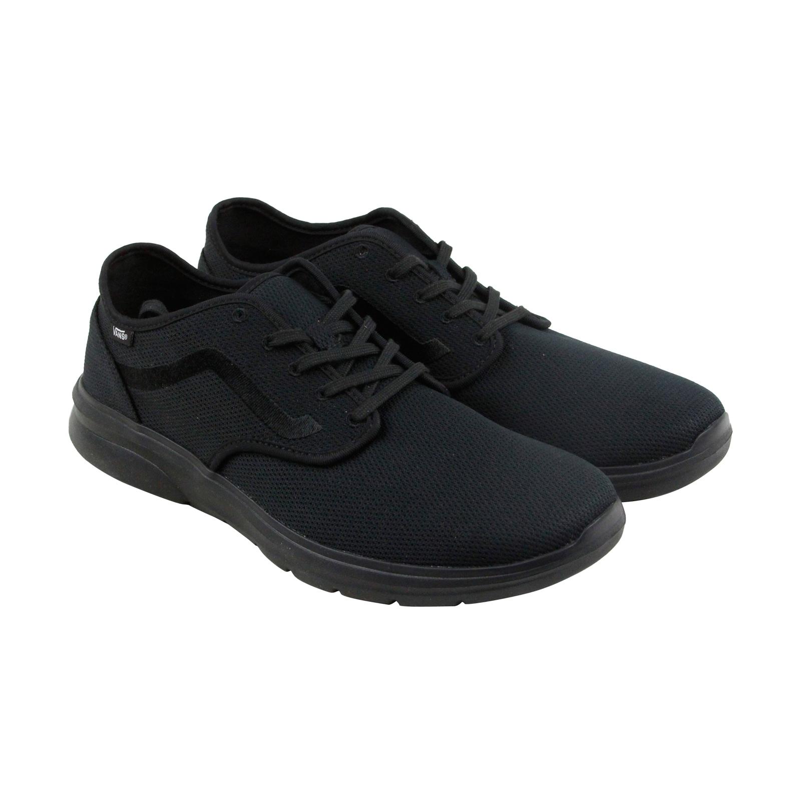 ba18501a095e34 Shop Vans Iso 2 Mens Black Mesh Athletic Lace Up Running Shoes ...