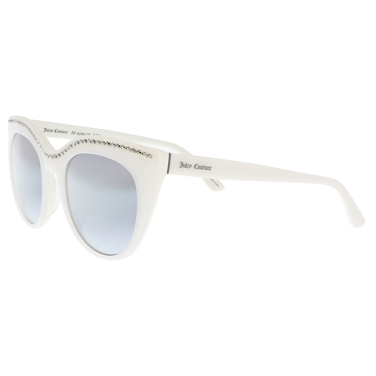 655c992e1d Juicy Couture JU595 S 0VK6 GO White Cat Eye Sunglasses - 51-21-140 - Free  Shipping Today - Overstock - 26932227