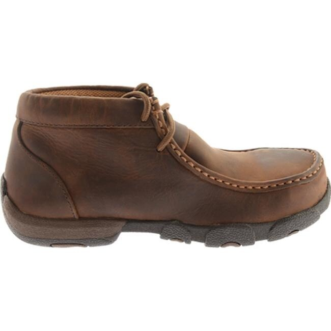 54029861c15 Twisted X Boots Women's WDMST01 Steel Toe Moc Work Shoe Distressed Saddle  Leather