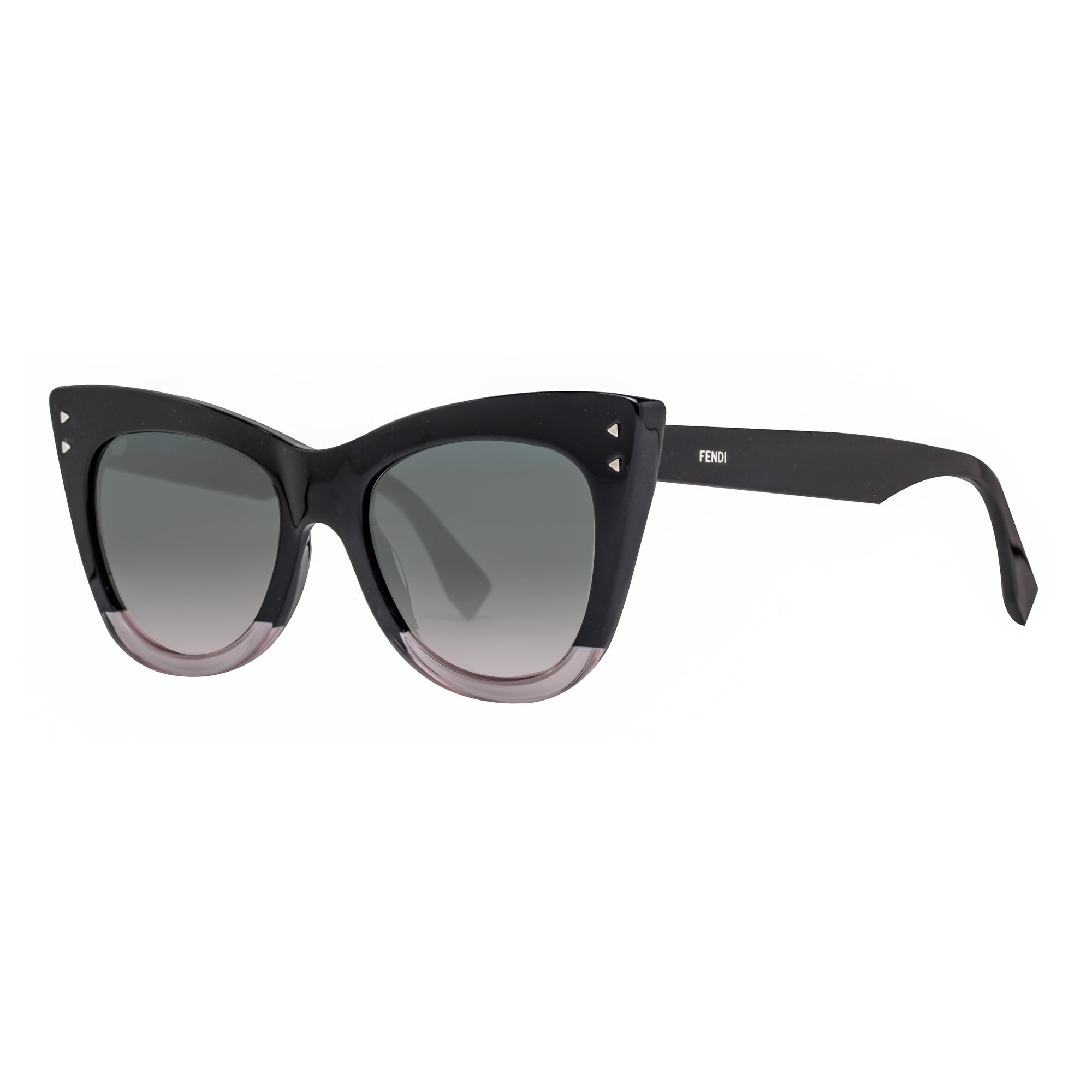 6deb57c2b445 Fendi FF 0238 S 3H2 JP Black Transparent Pink Grey Gradient Cat Eye  Sunglasses - 52mm-19mm-145mm