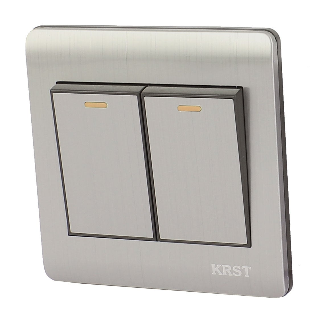 Shop On/Off Press Button 2 Gang 1 Way Wall Mount Switch Light ...