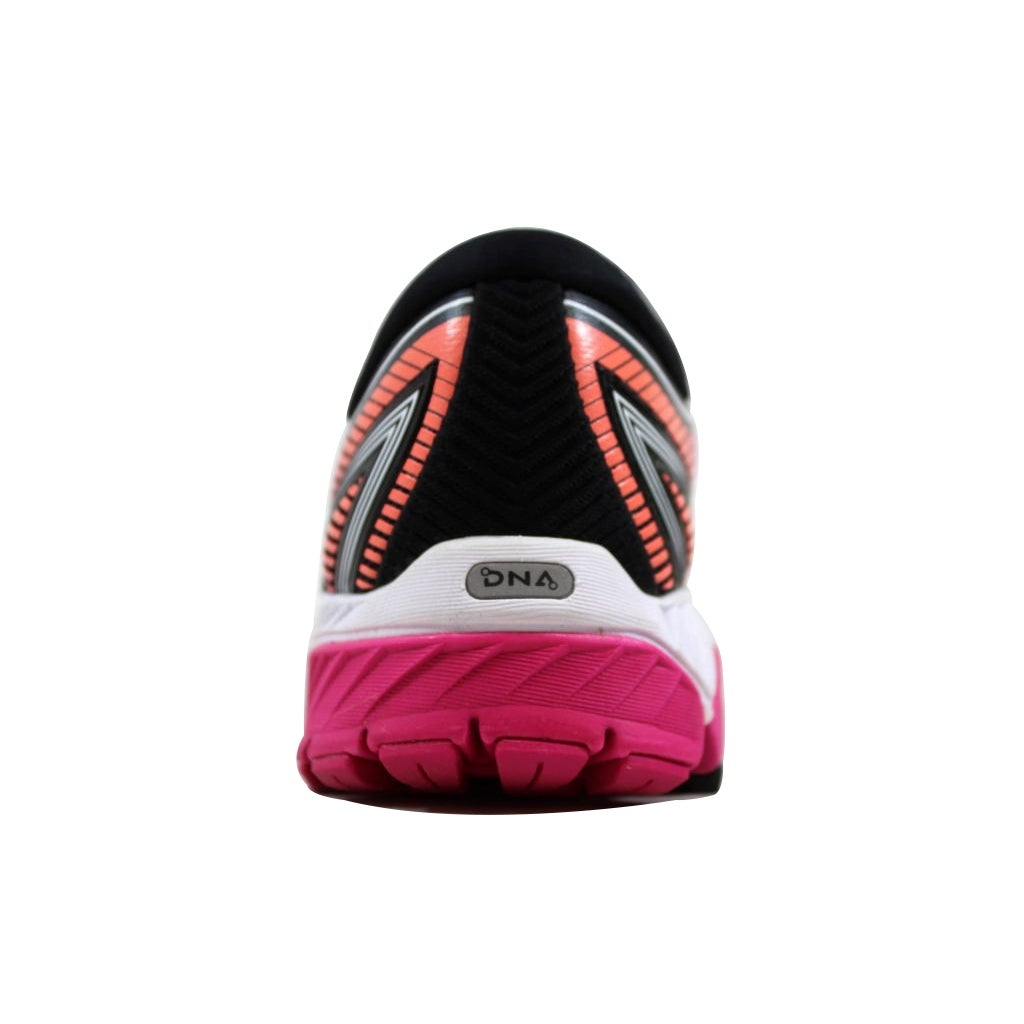 f07229febac90 Shop Brooks Women s Ghost 10 Black Pink Peacock-Living Coral 120246 1B 067  - Free Shipping Today - Overstock - 21893582