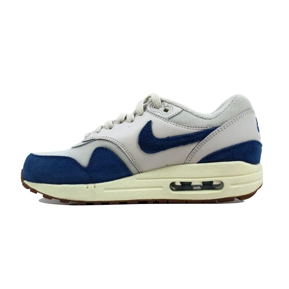 Nike Women's Air Max 1 Essential Light BoneBrigade Blue Sail Gum Medium Brown 599820 019 Size 5