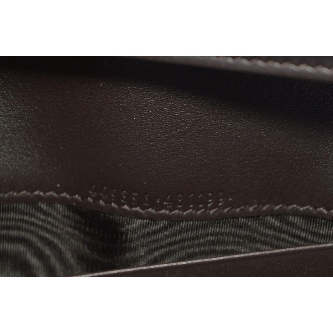 87b128b8c0d Shop Gucci Women s 449396 Brown Leather Micro GG Continental Bifold Wallet  - Free Shipping Today - Overstock - 22408853