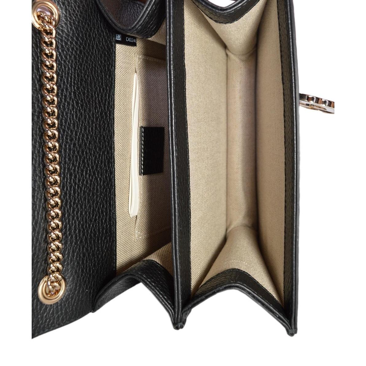 0c0cf689a7132 Shop Gucci Women s Black Leather 510304 Interlocking GG Crossbody Purse  Handbag - 7.75