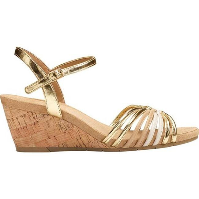 d8a74edfec03 A2 by Aerosoles Women s Fruit Cake Strappy Sandal Gold Combo Faux Leather