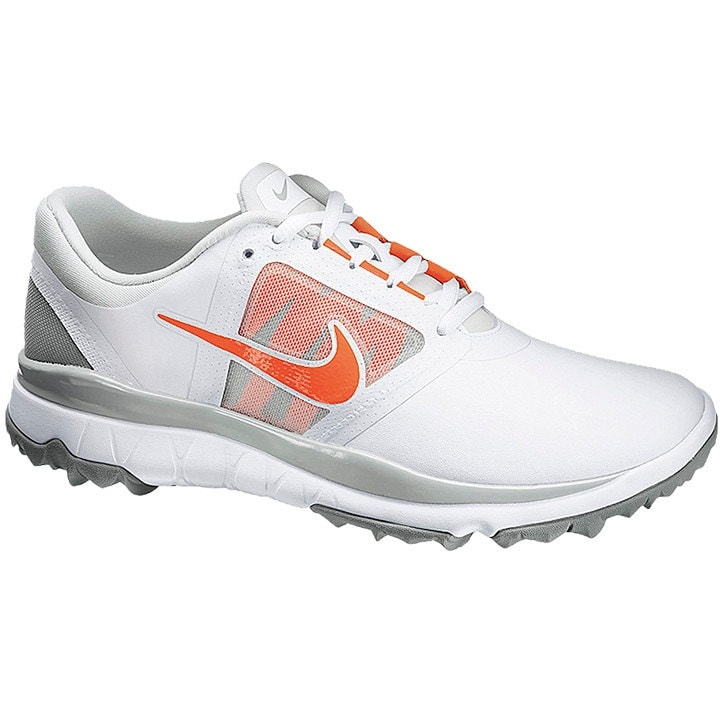 fee9917cf4e3 Nike Women s FI Impact White Light Grey Base Grey Turf Orange Golf Shoes  611509-100