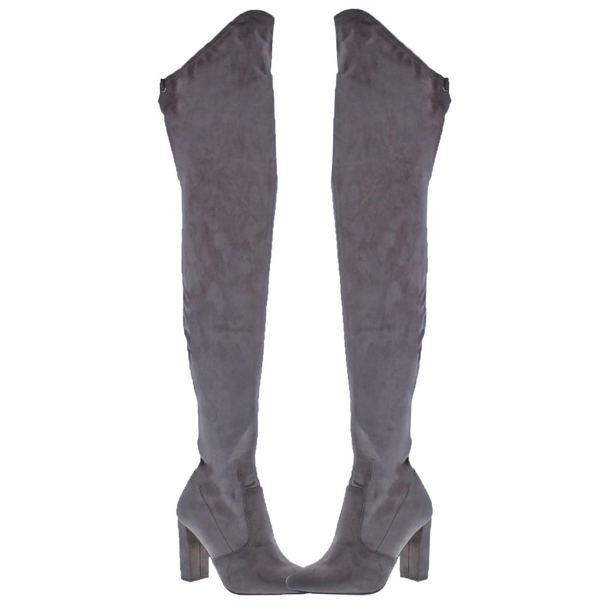 68db8e4a0dcc Shop Steve Madden Womens Elektric Thigh-High Boots Faux Suede Tall - Free  Shipping Today - Overstock - 24030625