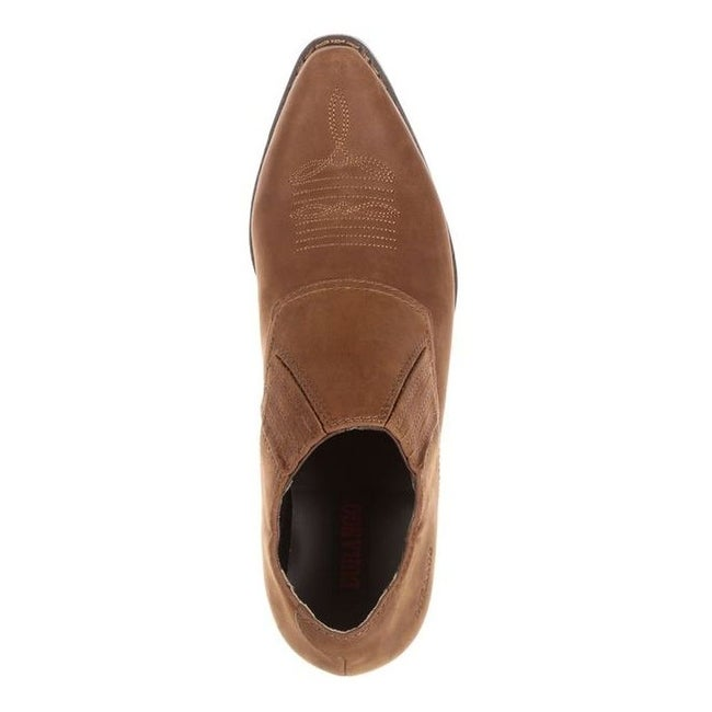 4a84415f0 Shop Durango Western Shoes Womens Crush Slip On Shooties Brown DRD0132 -  Free Shipping Today - Overstock - 15383028
