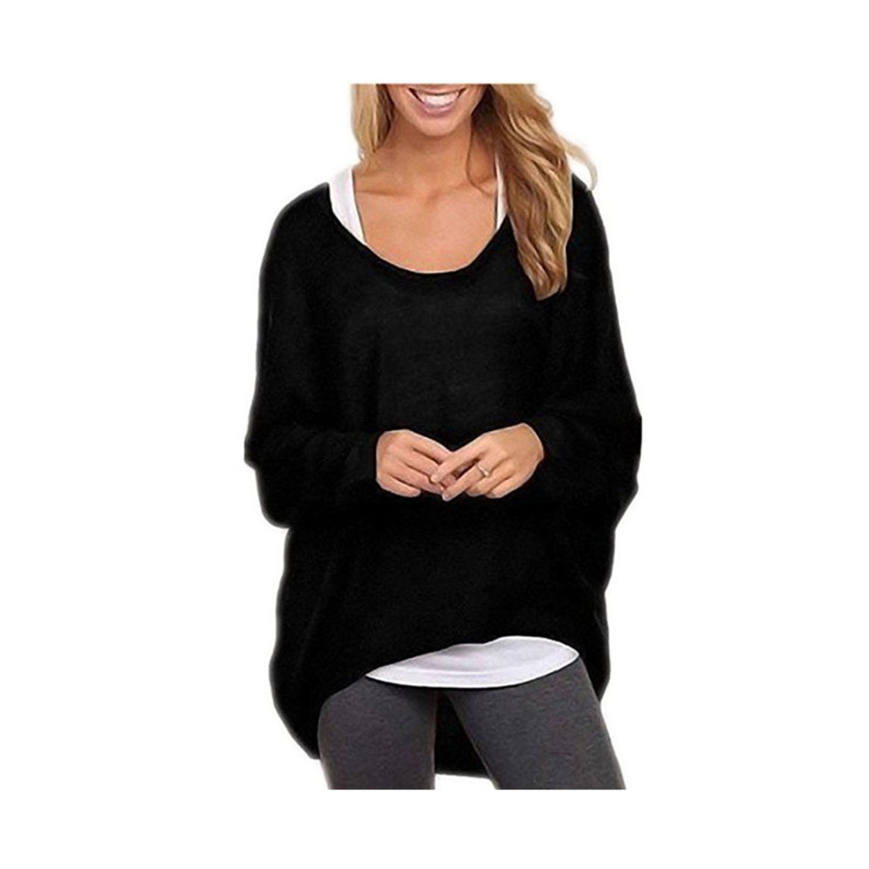 30d0f823392359 Shop Women's Sexy Long Batwing Sleeve Loose Pullover Casual Top Blouse T- Shirt - Free Shipping On Orders Over $45 - Overstock - 22804516