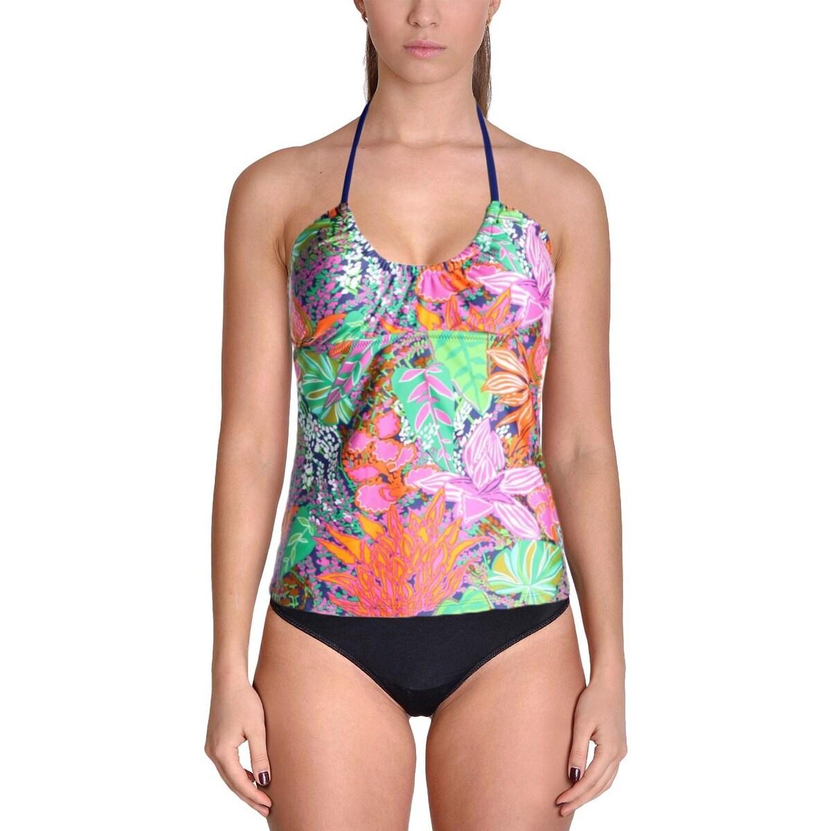 0e0913c1eca Shop Trina Turk Womens Tropical Print Tankini Swim Top Separates - Free  Shipping On Orders Over $45 - Overstock.com - 22201232