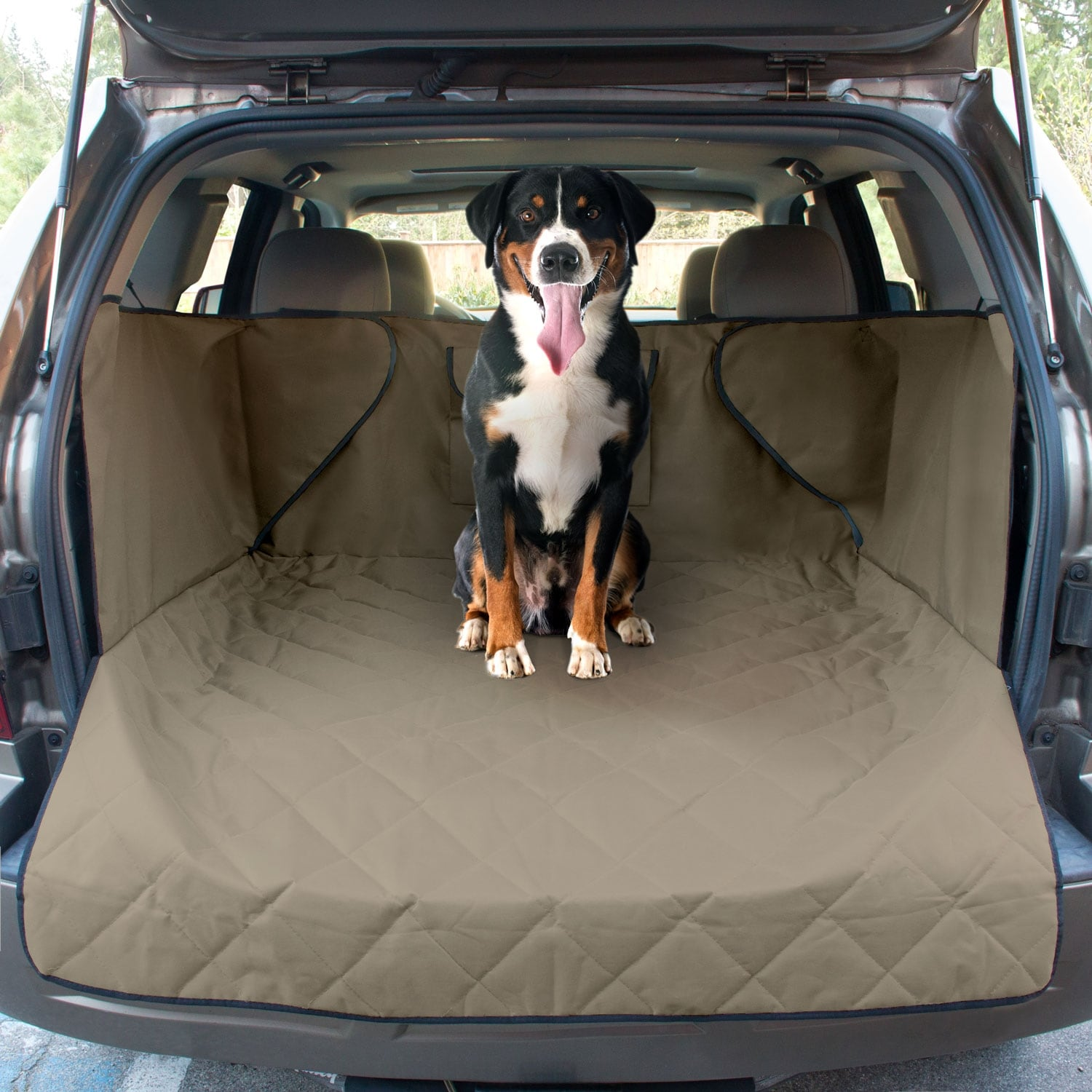 Shop FrontPet Nylon Extended-width Quilted Dog Cargo Cover - Free ...