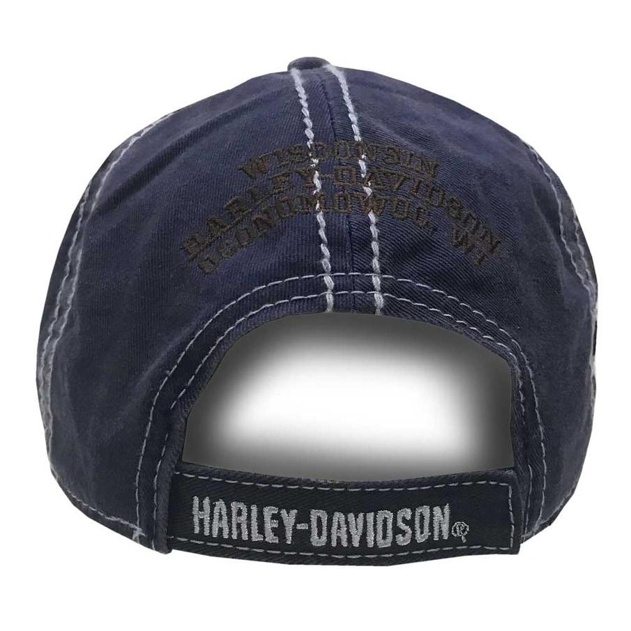 17a5c1fdf02 Shop Harley-Davidson Men s Embroidered Retro Pre-Luxe Baseball Cap ...