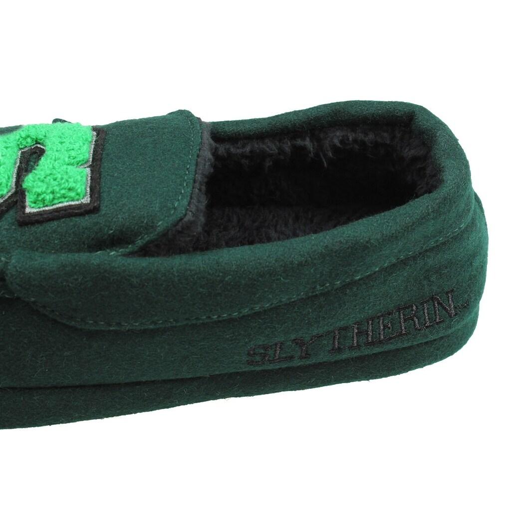 1b4259c7862c8 Harry Potter Men's Slytherin House Moccasin Slippers