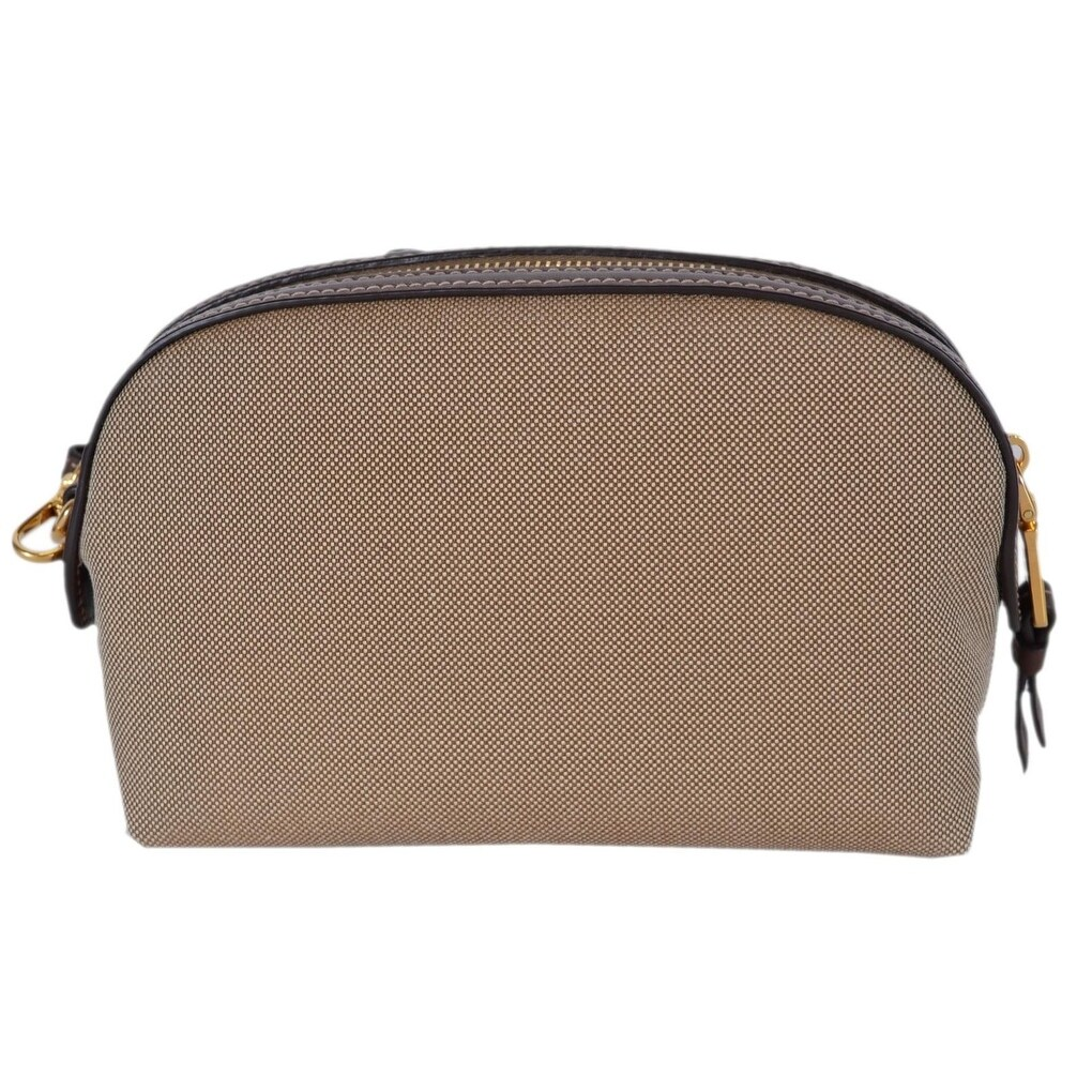 b34d0986419d ... buy shop prada womens brown canvas 1ne010 contenitore small cosmetic bag  wristlet beige free shipping today authentic miu miu leather satchel  shoulder ...