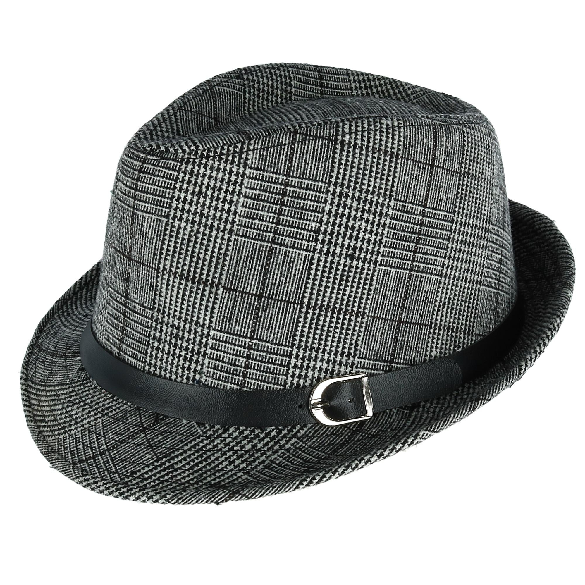 6ea2395e5b2935 Shop Westend Men's Plaid Trilby Fedora with Black Band - Free Shipping On  Orders Over $45 - Overstock - 24268189