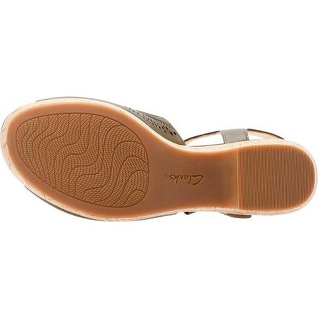 ad75a925a705 Shop Clarks Women s Maritsa Nila Wedge Sandal Khaki Full Grain Leather -  Free Shipping Today - Overstock - 20592453