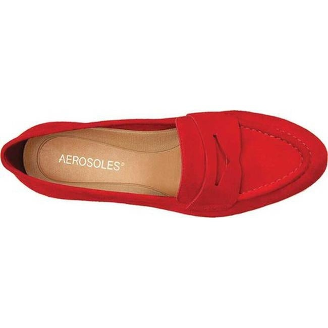 7df7bb3e832 Shop Aerosoles Women s Map Out Penny Loafer Mid Red Suede - Free Shipping  Today - Overstock - 18840448
