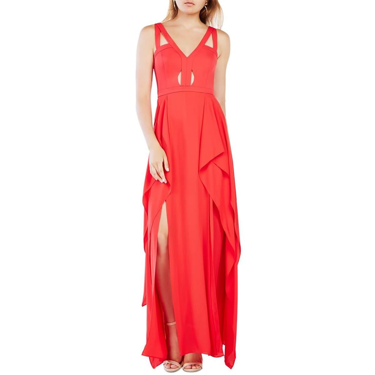 Shop BCBG Max Azria Womens Juliana Evening Dress Woven Cut-Out ...