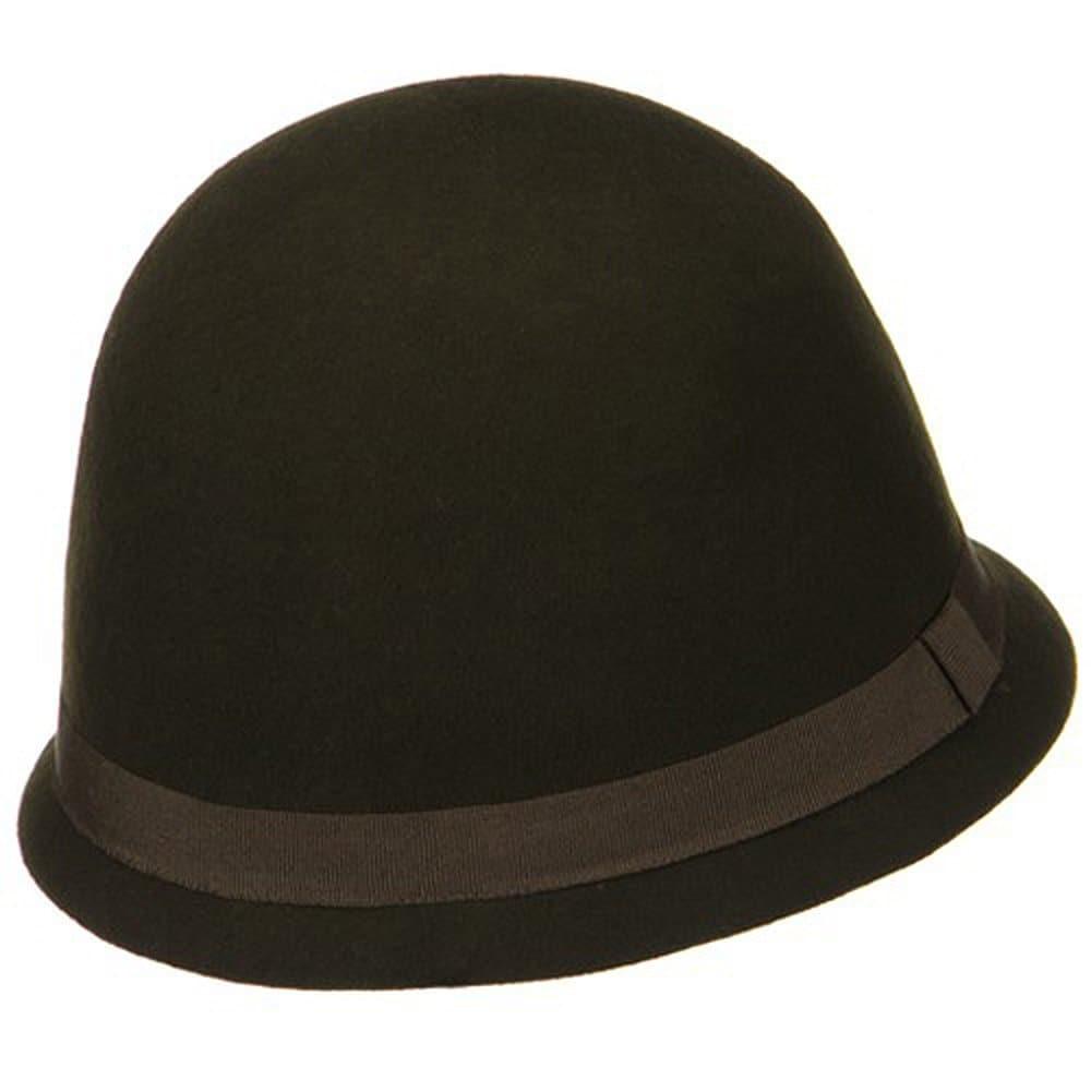 Shop Ladies Wool Felt Cloche Hat - Coffee - Free Shipping On Orders ... f51f57d8881