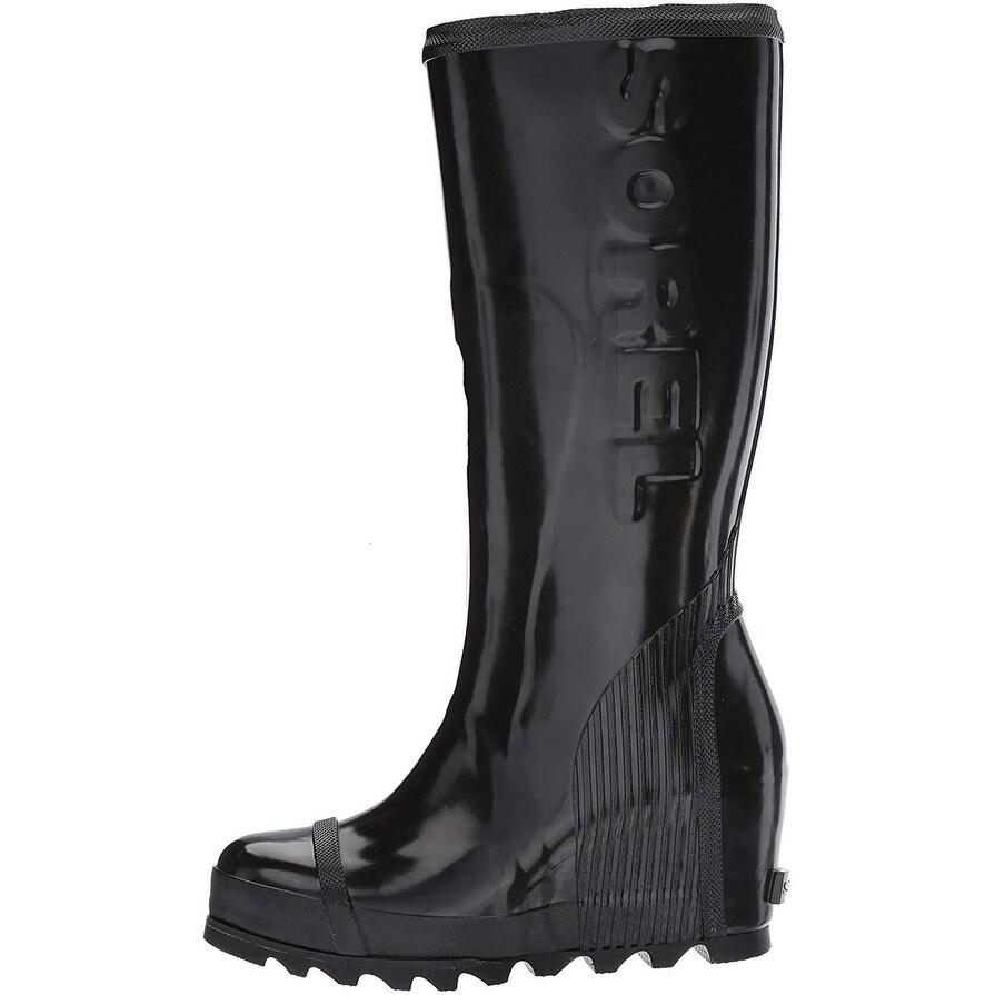 4041f7da5fb Shop SOREL Women s Joan Rain Wedge Tall Gloss Boot - Free Shipping On  Orders Over  45 - Overstock - 25442792