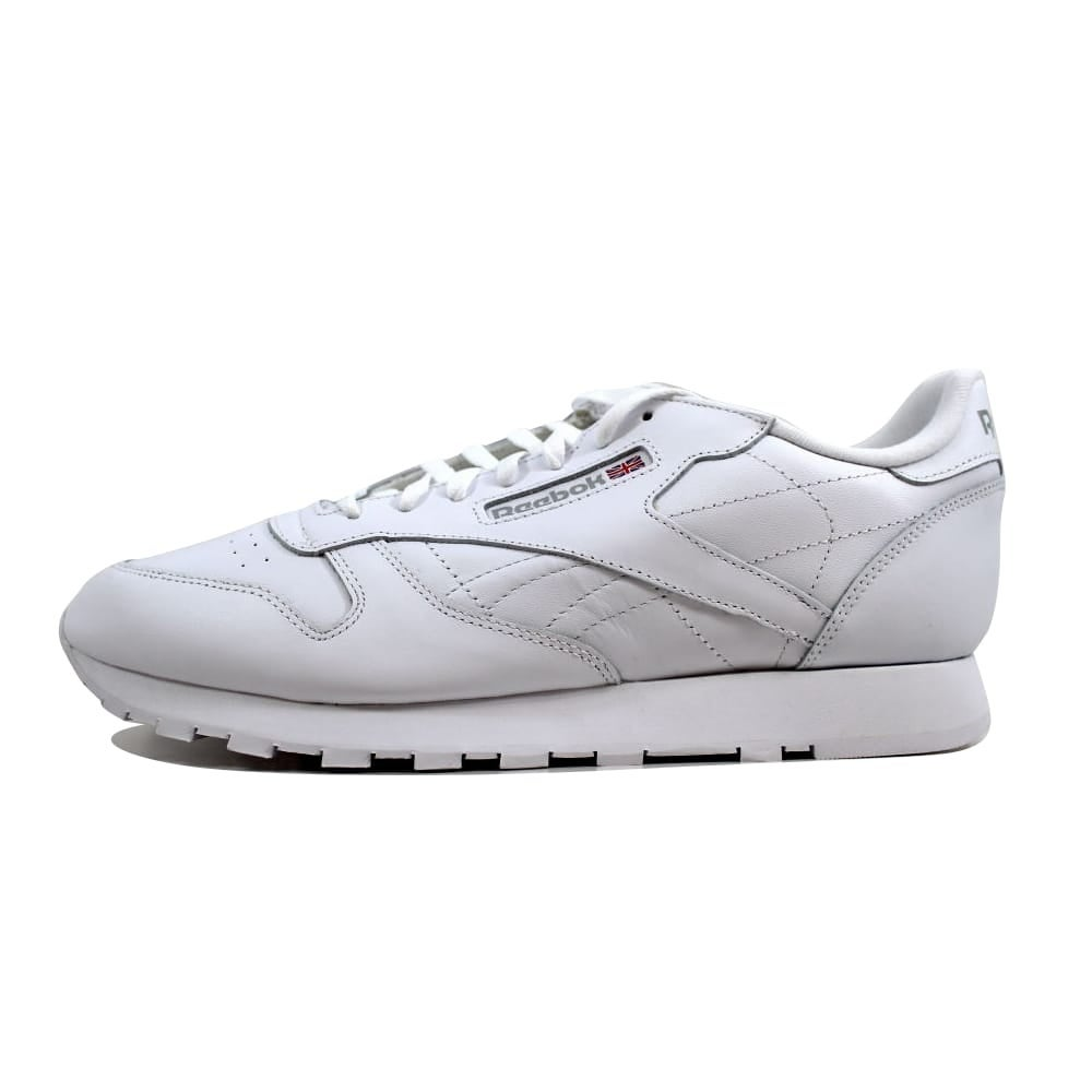6a2a3347b41 Shop Reebok Men s Classic Leather White White-Light Grey 9771 Size 12.5 -  Free Shipping Today - Overstock - 23436614