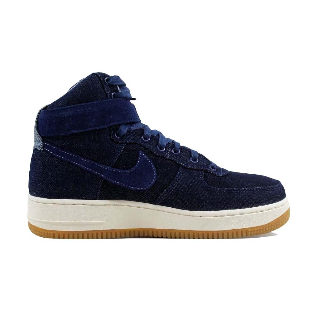 5952a63e3e7a6 Shop Nike Air Force 1 Hi SE Binary Blue/Muslin-Sail Denim 860544-400 Women's  - Free Shipping Today - Overstock - 22546782