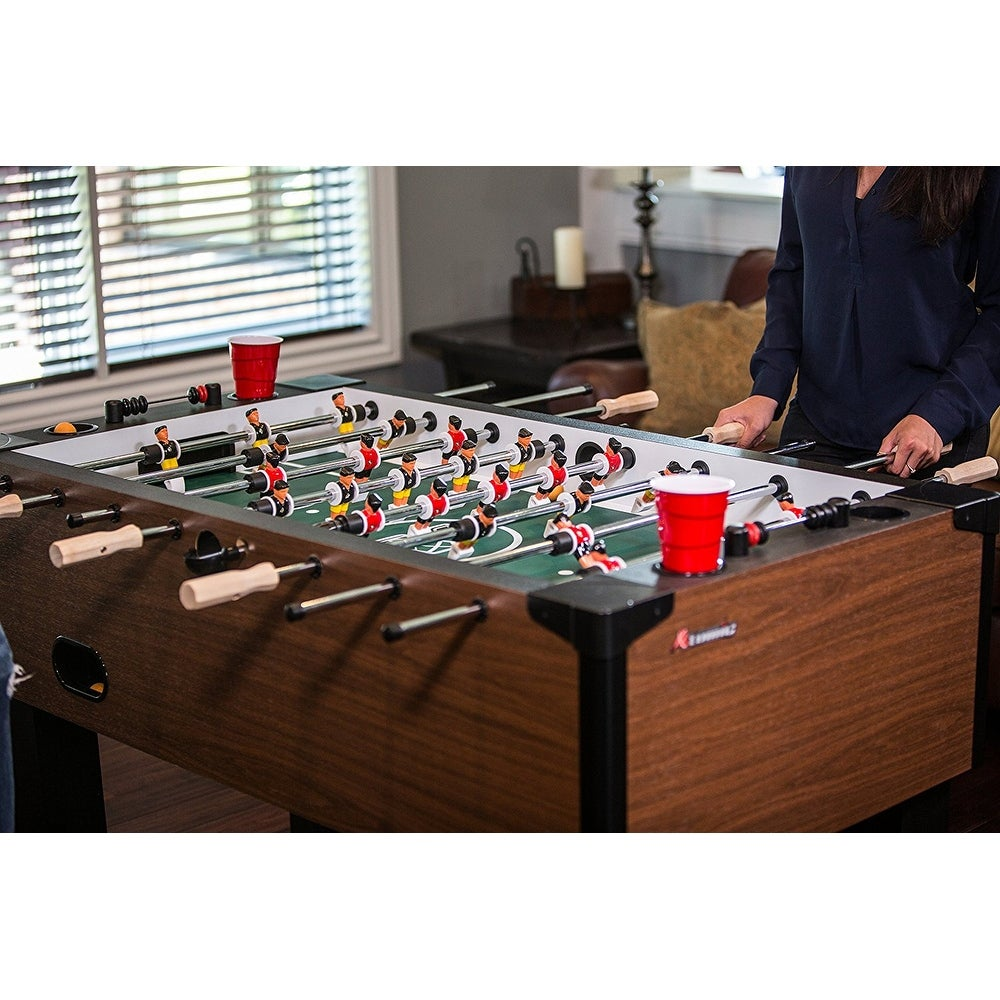 Shop Atomic Gladiator Soccer Game Table / Foosball Table Model G01889W    Free Shipping Today   Overstock.com   18126380