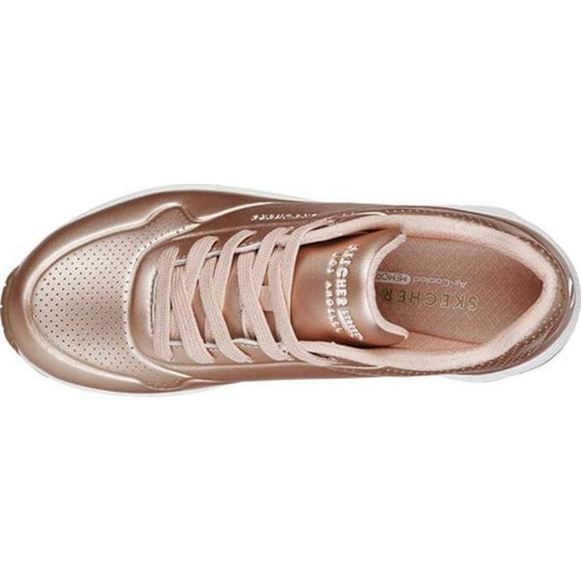 cdf92ee679ce Shop Skechers Women s Uno Rose Bold Sneaker Rose Gold - Free Shipping Today  - Overstock - 19552655