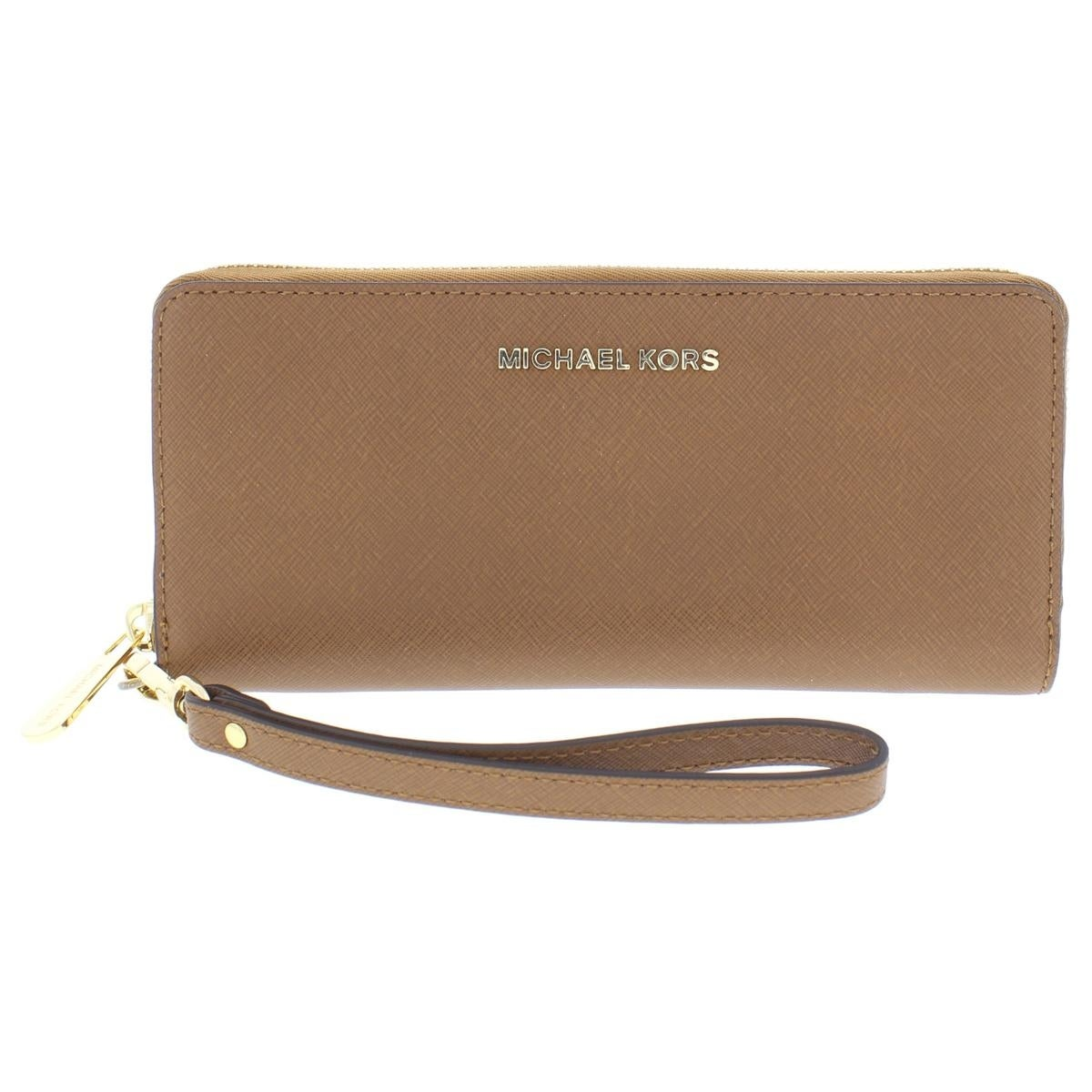2139161a373a Shop Michael Kors Womens Jet Set Travel Continental Wristlet Wallet Leather  Clutch - Free Shipping Today - Overstock - 25596092