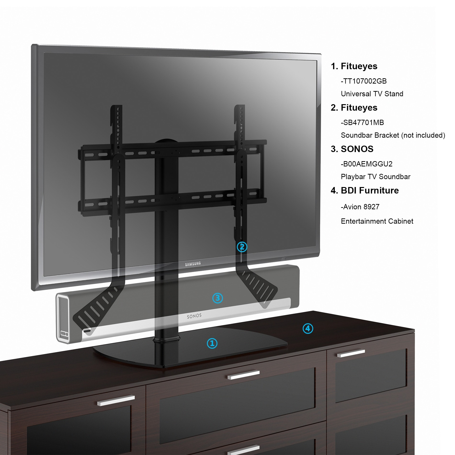 Shop Fitueyes Universal Tv Stand Base Swivel Tabletop Tv Stand With
