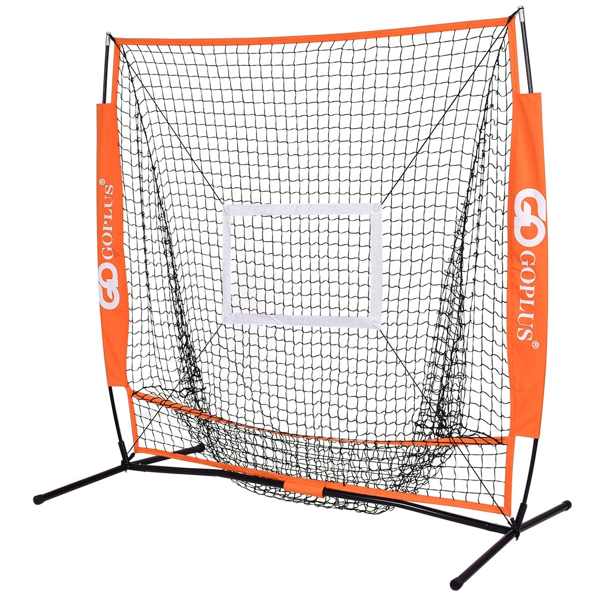 Goplus 5\'x5\' Baseball Softball Practice Hitting Batting Training Net ...