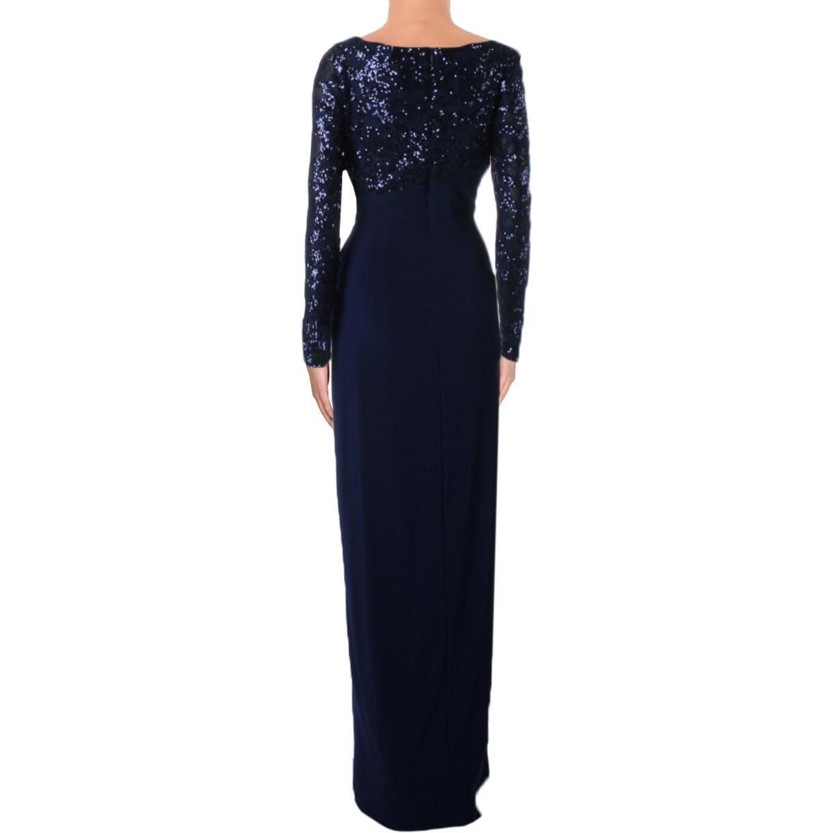 Shop Lauren Ralph Lauren Womens Lylina Evening Dress Sequined High ...
