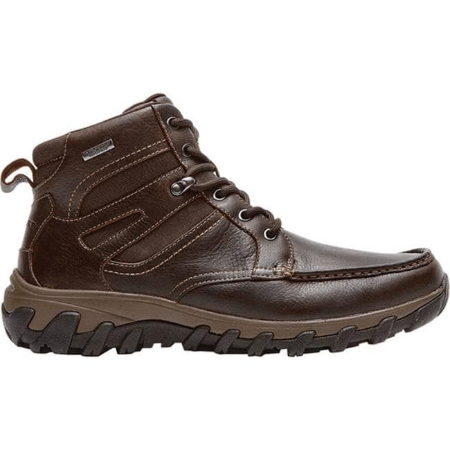879a2074b735 Shop Rockport Men s Cold Springs Plus Moc Toe High Boot Chocolate Leather -  Free Shipping Today - Overstock - 9918837