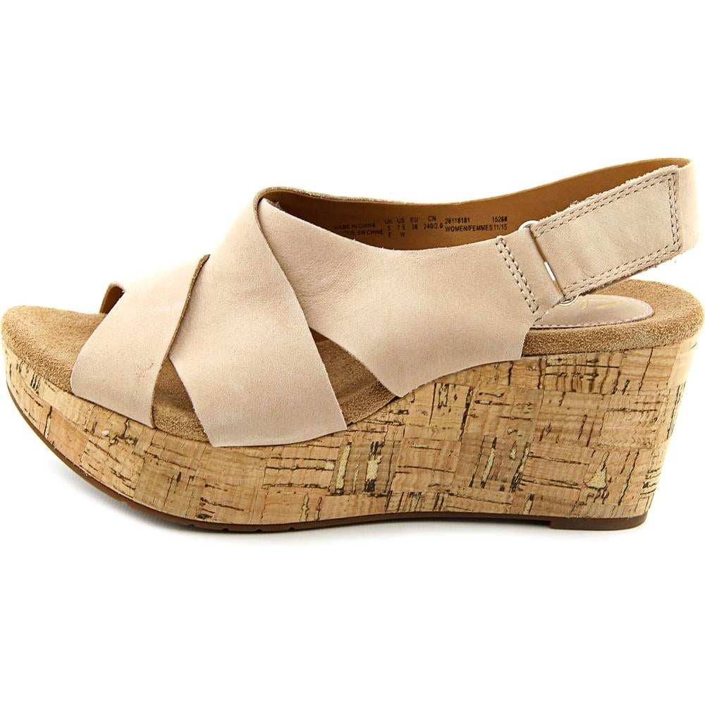 c9b71fbb772c7 Shop Clarks Artisan Caslynn Shae Women Open Toe Leather Nude Wedge Sandal -  Free Shipping On Orders Over  45 - Overstock - 19397949