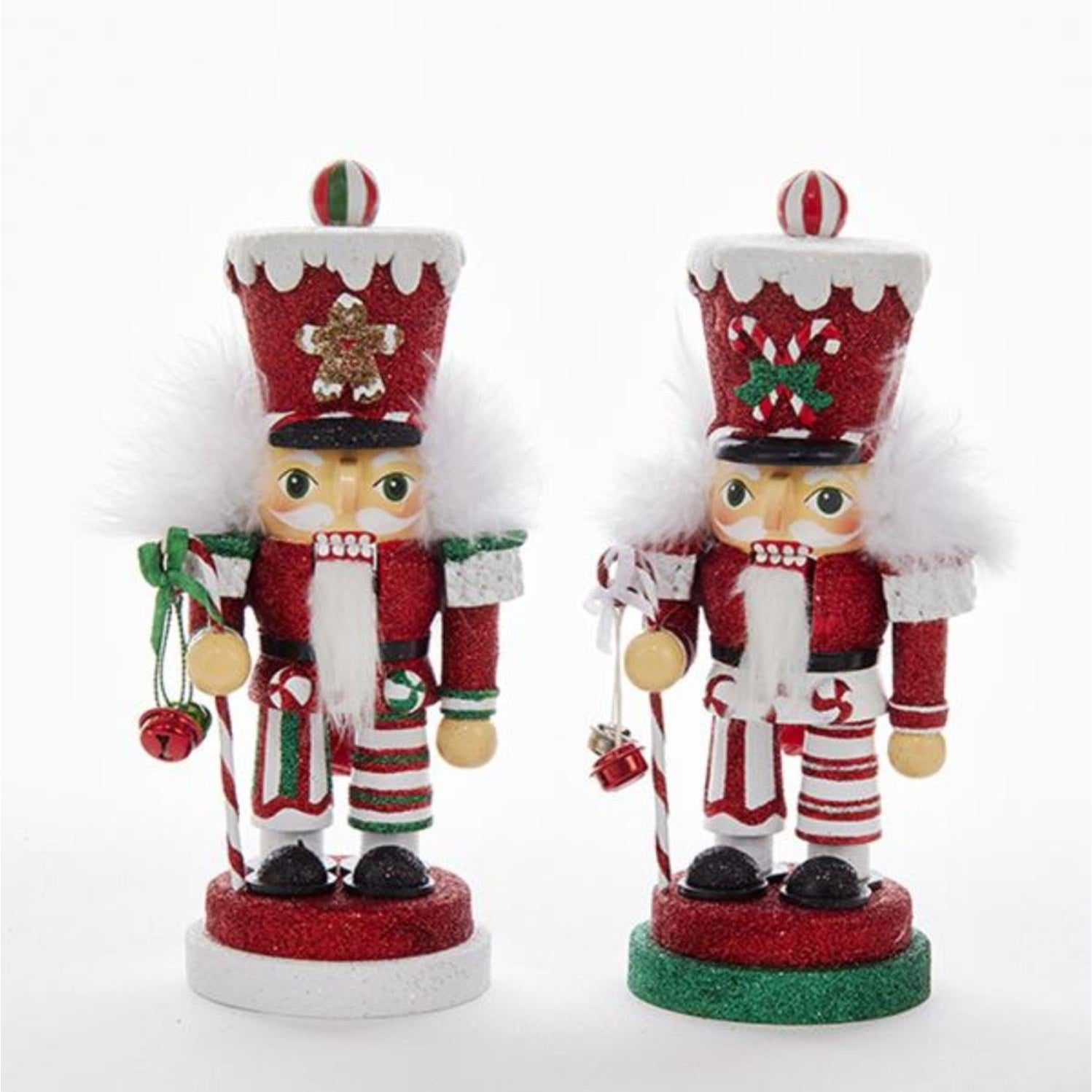 Shop Pack of 2 Red and Green Nutcrackers with Glittering Hats ...