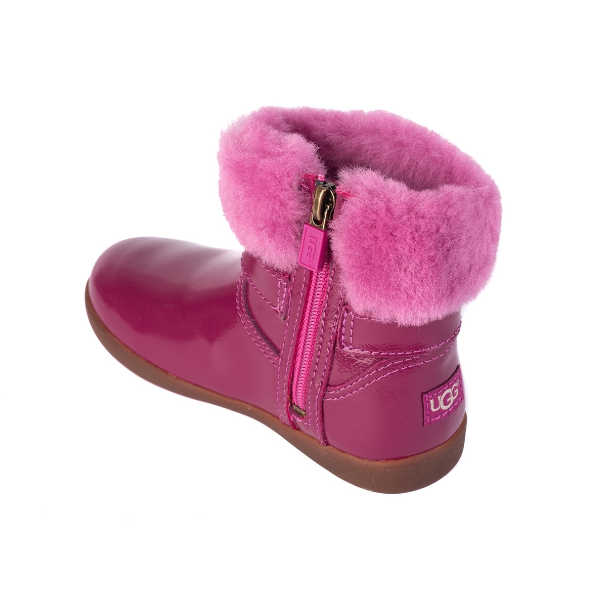 afcd30fee3a UGG Toddler Girls Gemma Patent Leather Cuff Boots Size US10~RTL$75