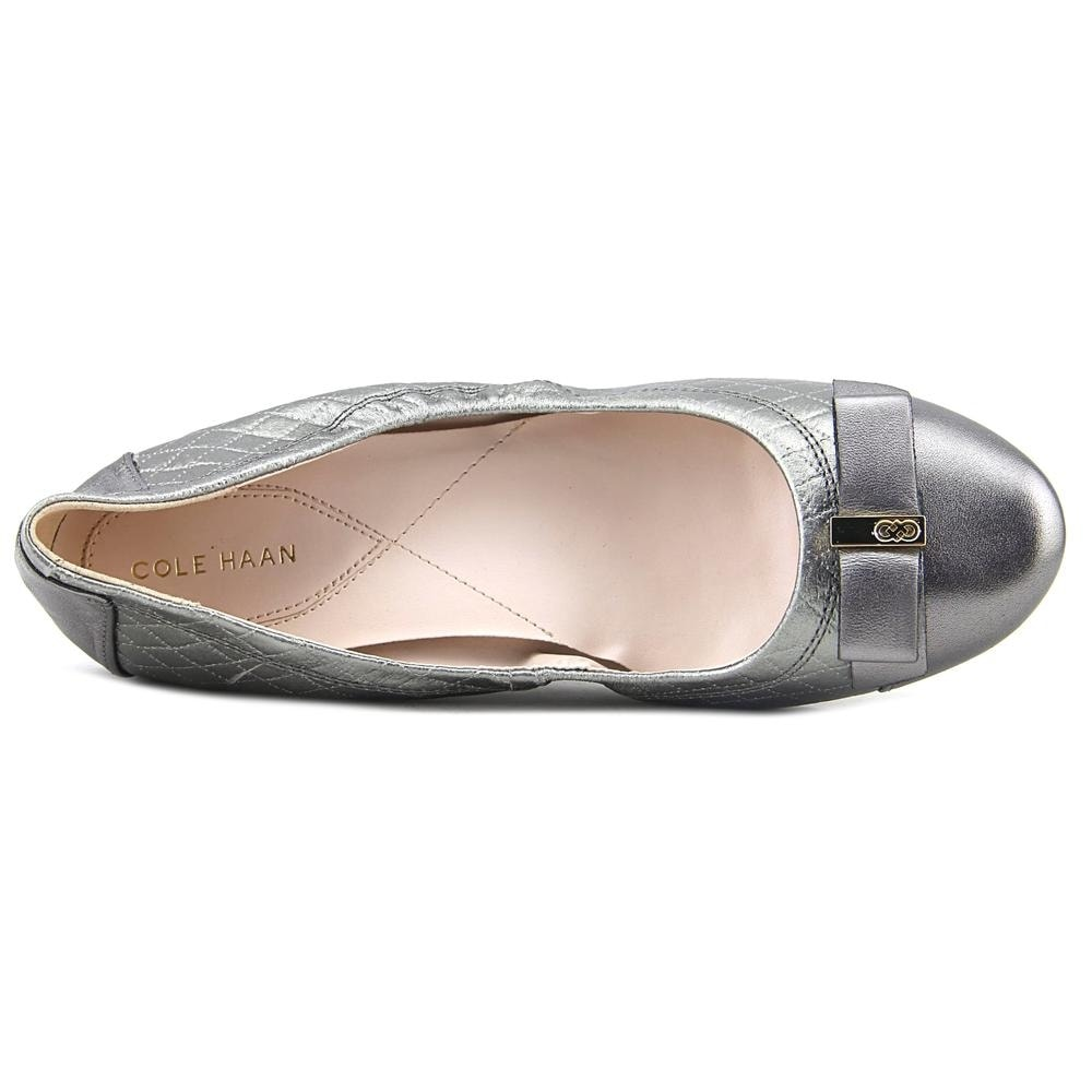 ad5e51cc31d8 Shop Cole Haan Elsie Ballet II Bow Flat Women Round Toe Leather Silver Ballet  Flats - Free Shipping Today - Overstock - 19740301