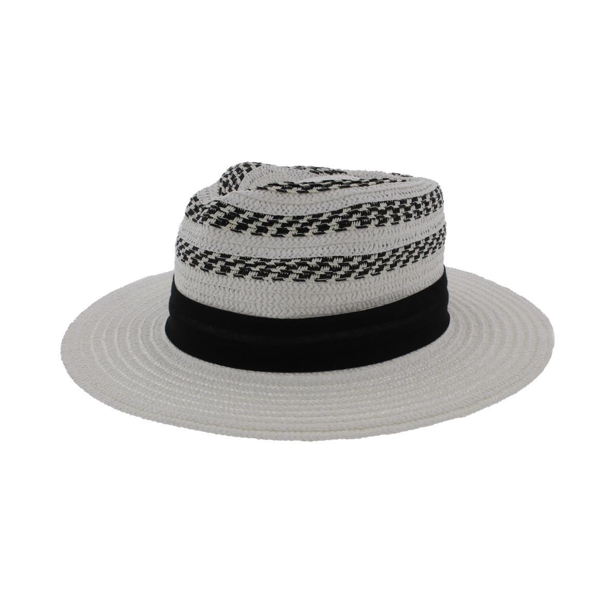 12c8d6bfeba Shop Vince Camuto Womens Straw Fedora Striped Adjustable - o s - Free  Shipping On Orders Over  45 - Overstock.com - 20517011
