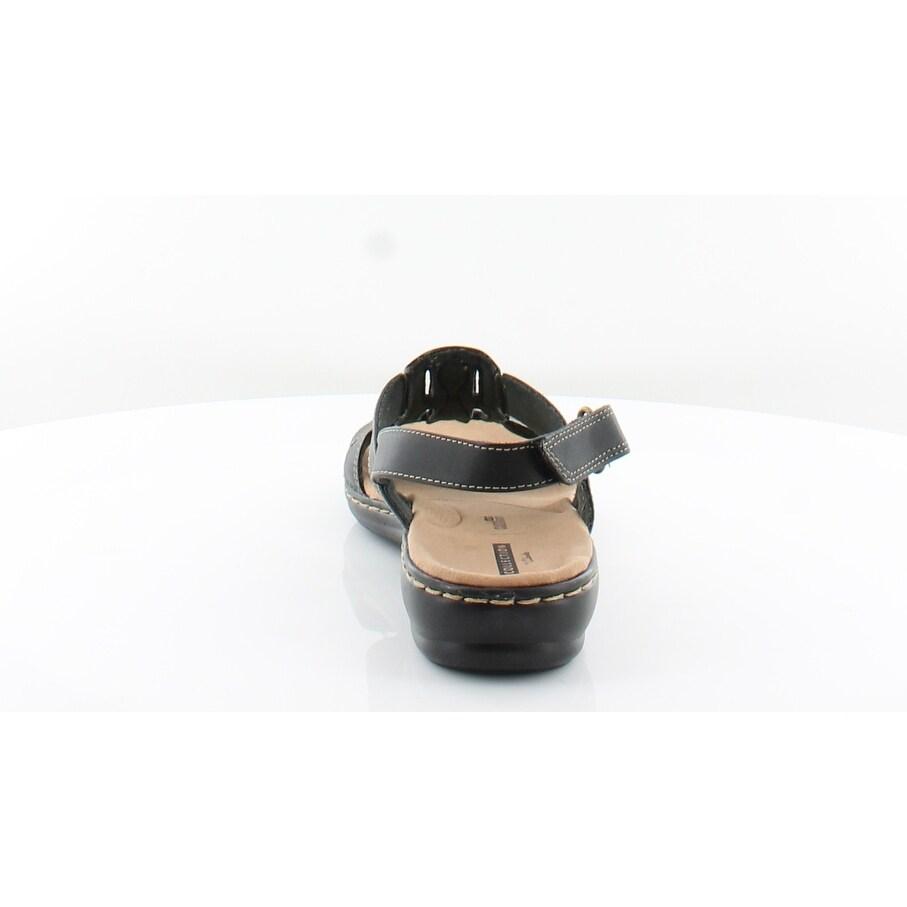 eda6db760b2f Shop Clarks Leisa Skip Women s Sandals Black - 8 - Free Shipping Today -  Overstock - 26566698