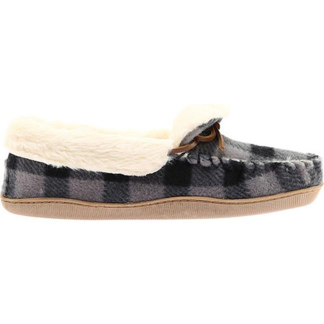 c836ad726f36eb Shop Clarks Women s Gintra Adira Folded Collar Moccasin Slipper Grey Plaid  Fleece - Free Shipping Today - Overstock - 18027378