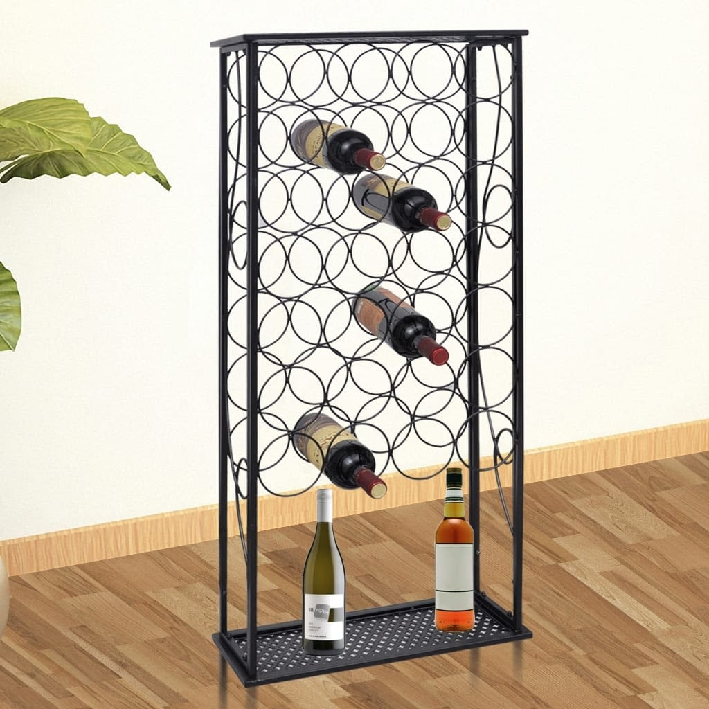 Vidaxl Wine Rack For 28 Bottles Metal Free Shipping Today 19402532
