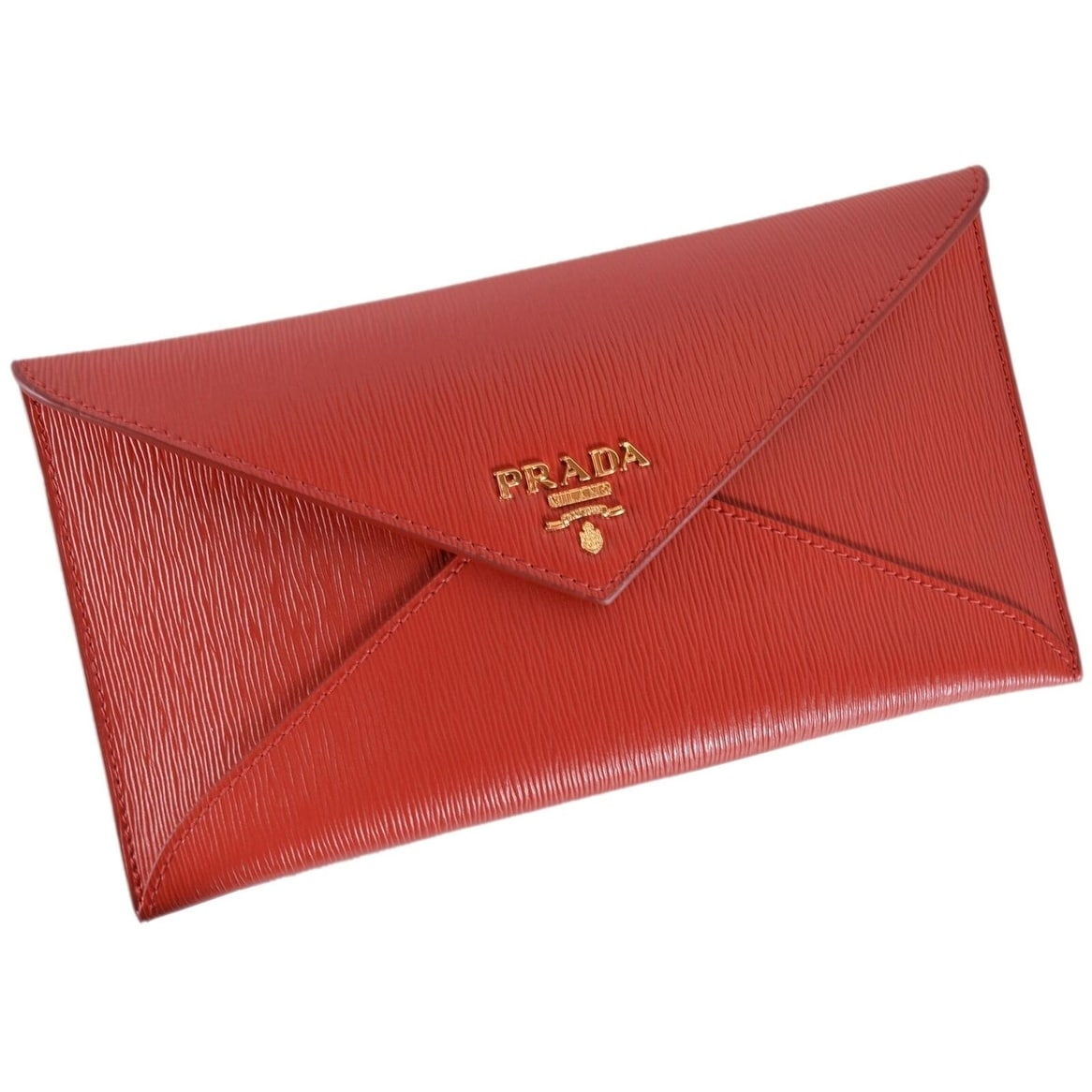 41adfc2ff745 Shop Prada 1MF175 2EZZ Red Vitello Saffiano Leather Flap Envelope Wallet  Clutch - Free Shipping Today - Overstock - 26952484