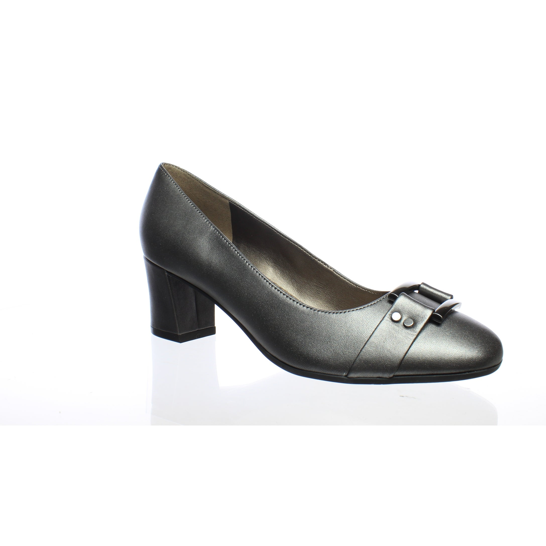 ccb11ae7aa1 Easy Spirit Womens Roldana Pewter Leather Pumps Size 7 (C,D,W)